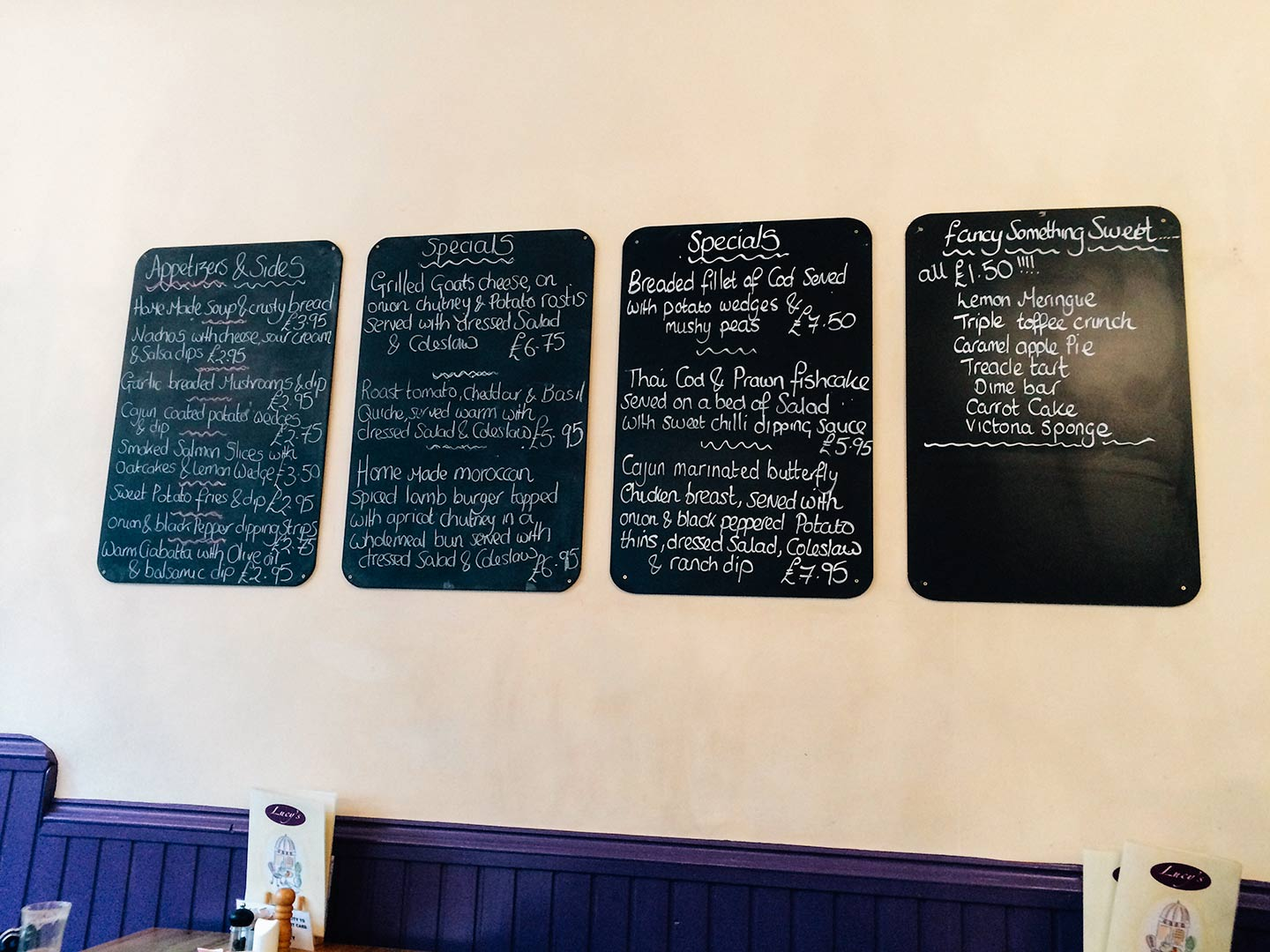 Lucys in Mansfield Special Boards