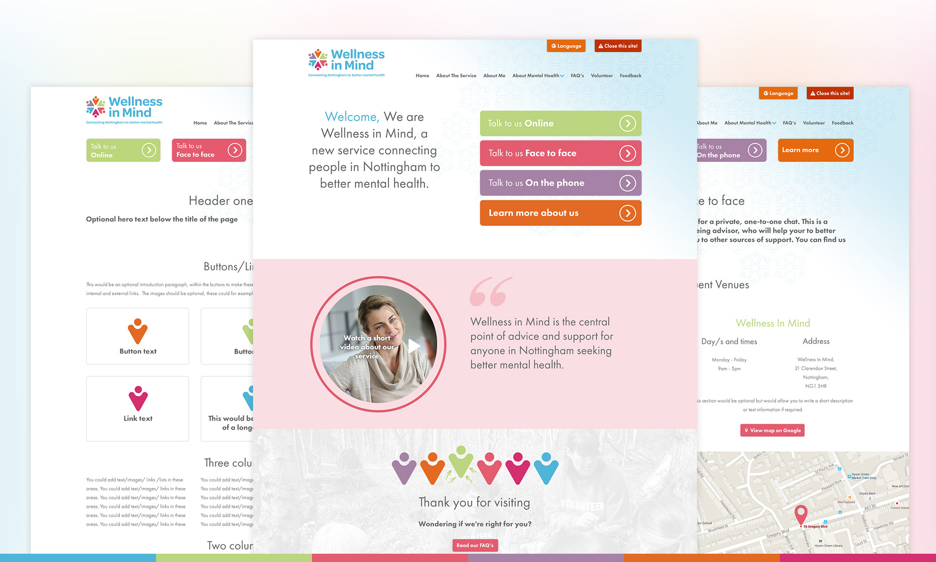 Mental Health Charity Web design