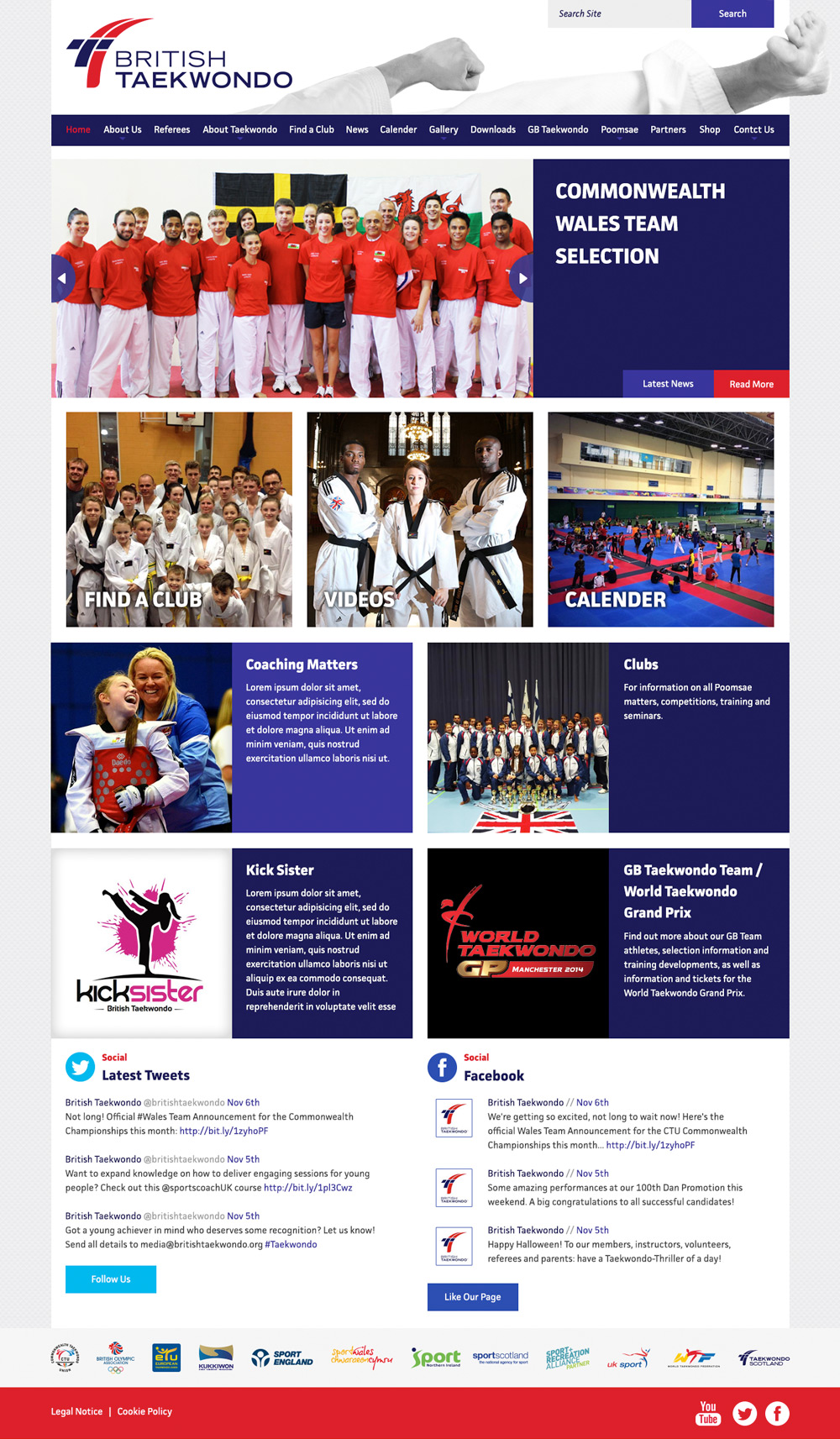 British Taekwondo Web Site Development