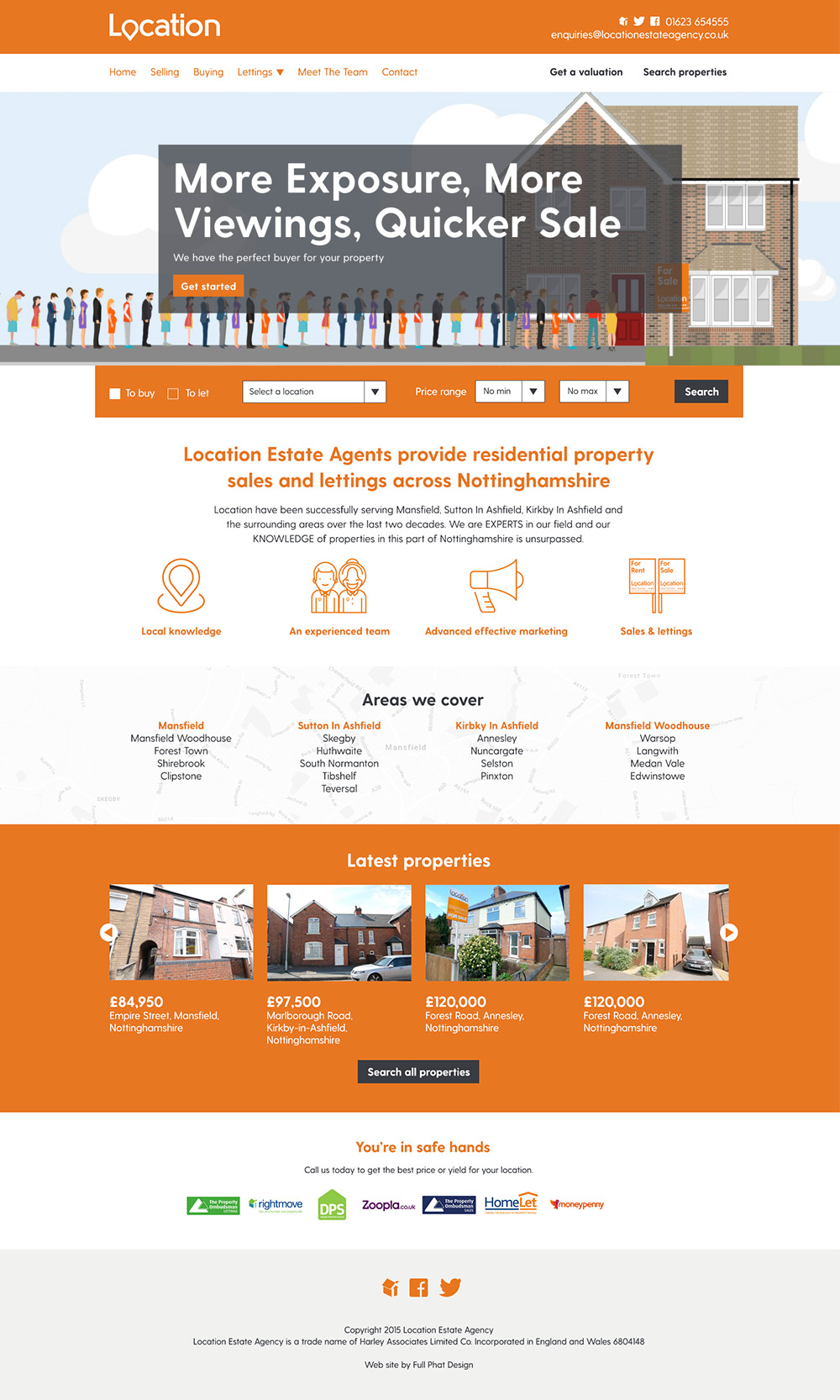 Location Estate Agency Web Site Design And Development